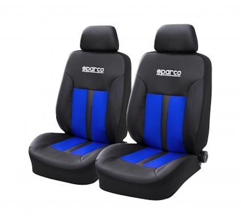 SPARCO Seat Cover Front SET Blue Black