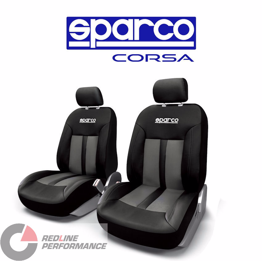 Sparco Seat Cover Front Set Black Redline Performance