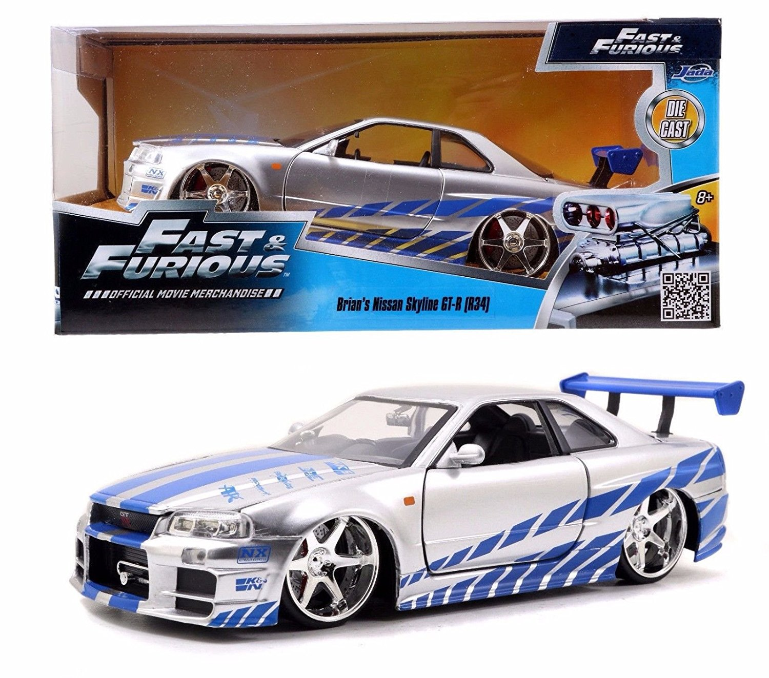 Fast And Furious Brian S Nissan Skyline Gt R R34 1 24