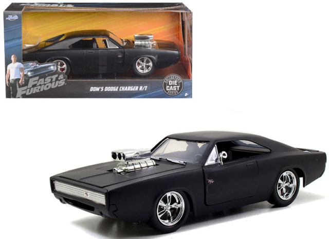 Fast And Furious 7 Dom S 1970 Dodge Charger R T 1 24 Matte Black Diecast Model Redline Performance